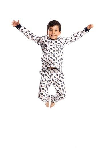 Pamuk & Pamuk Erkek Çocuk Dinazor Desen Pamuklu Pijama Takımı Renkli